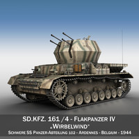 german flakpanzer - wirbelwind 3ds