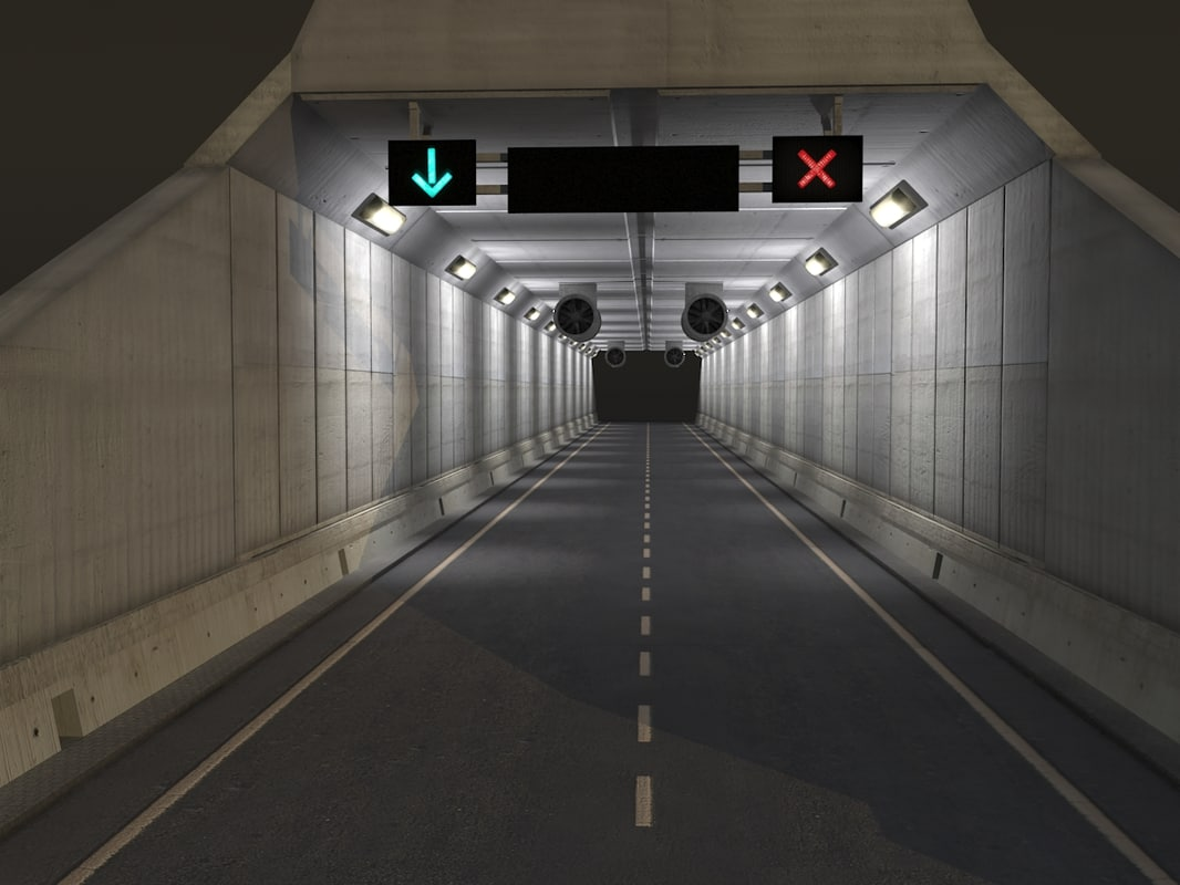tileable road tunnell 3d max
