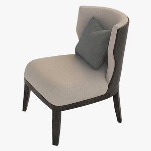 chair grace wood 3ds