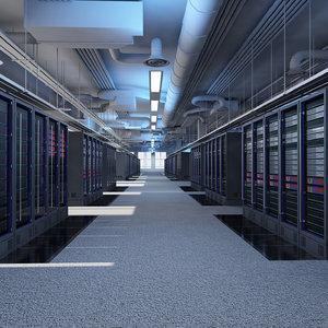 data servers 3d model