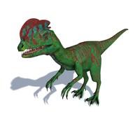 3d obj dilophosaurus wetherilli