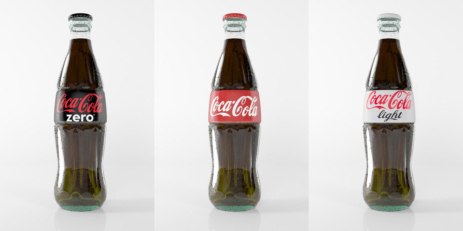 photorealistic coca cola 3d model