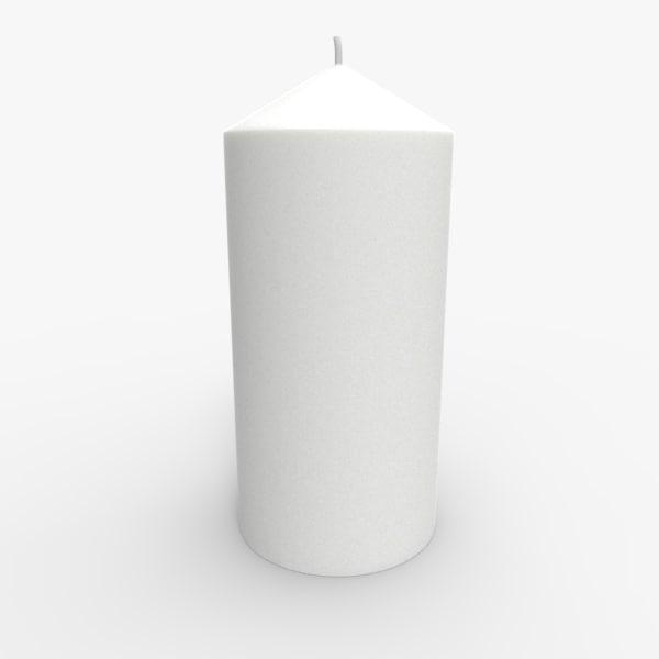 candle 3d obj