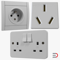 3d model electrical outlets