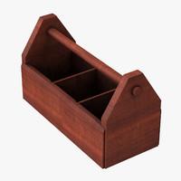 c4d wooden tool box