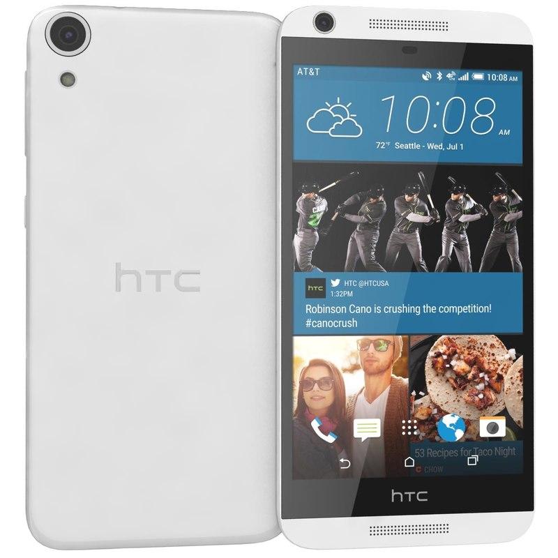 3d model htc desire 626 white