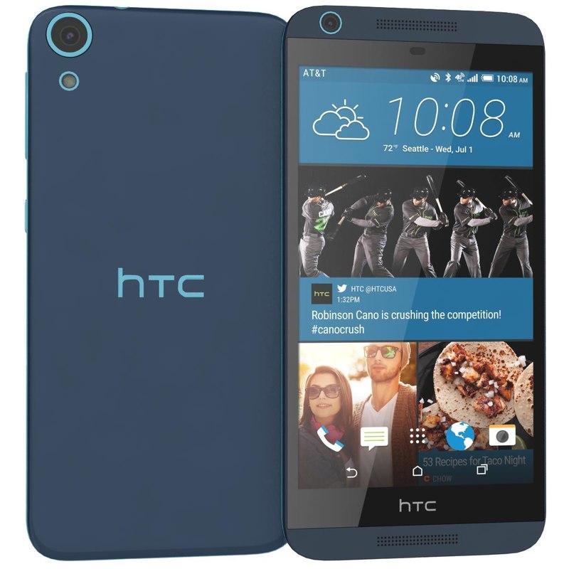 3d htc desire 626 blue model