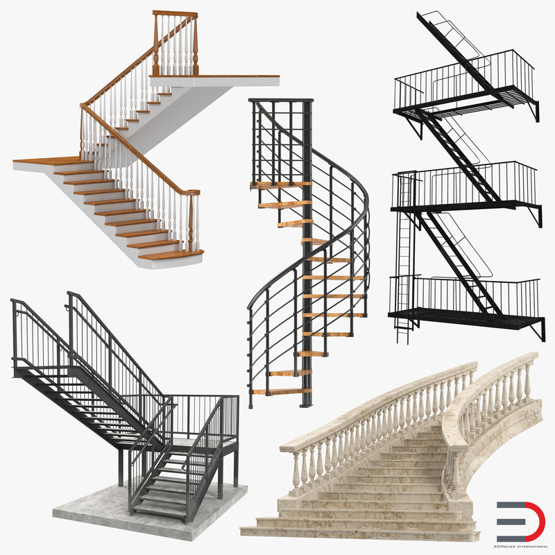 3d stairs 2 model