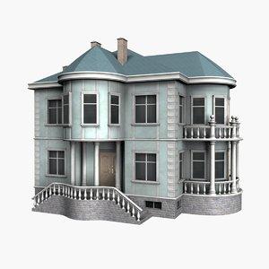 house 2 floors 3d model