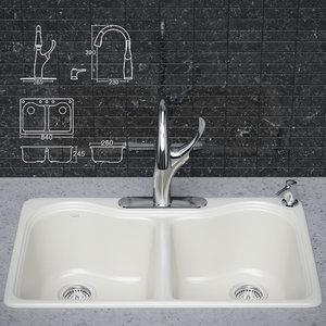 3d ma kitchen faucet sink kohler
