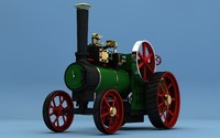3d steam tractor minnie