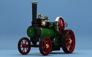 3d steam tractor minnie