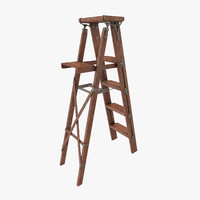 vintage painting ladder 3d model