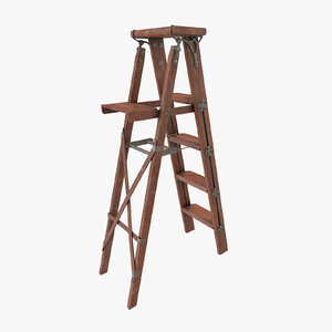 vintage painting ladder 3d model