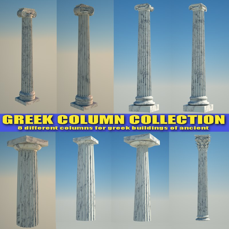 greek column 3ds