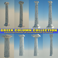 greek column 3ds