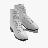 ice skates 3d model