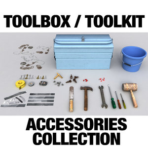 toolbox accessories 3d model