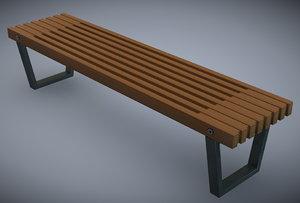 c4d mall bench