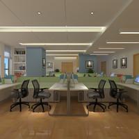 opens interior 3d model