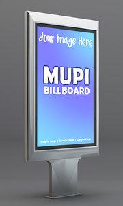 mupi billboard 3ds