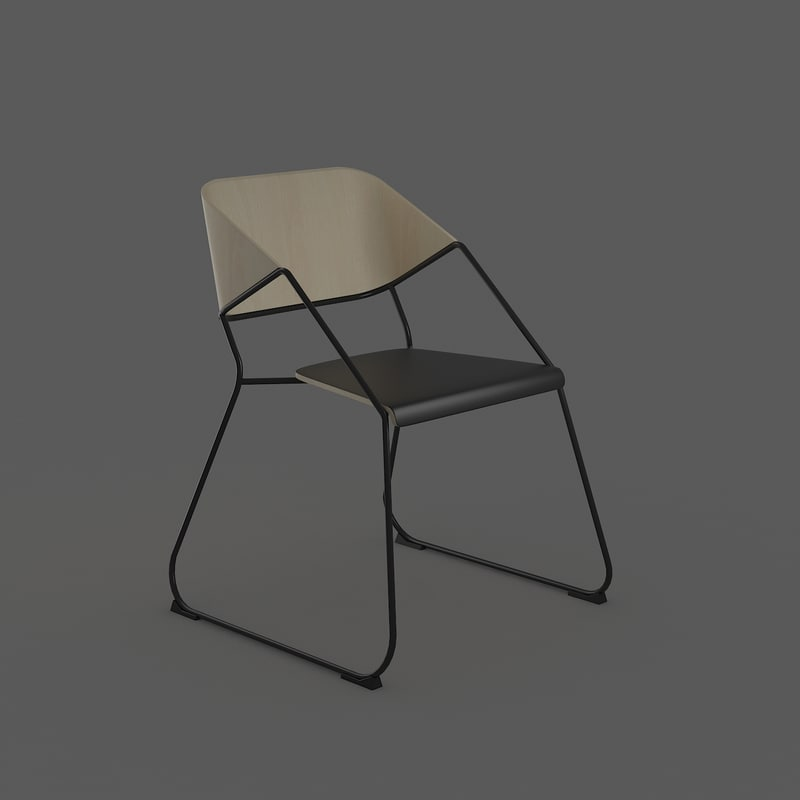 3d ma retro chair