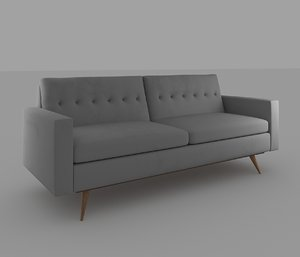 gray couch 3d max