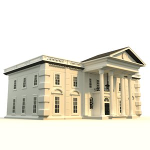 mansion 3d obj