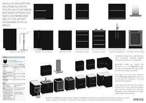 Kitchen Units All-In-One Casework (Fully Parametric)