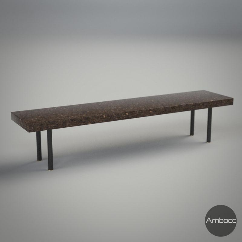 ikea sinnerlig coffee table 3d model