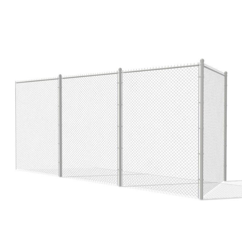 3d 3ds chain link fence metal