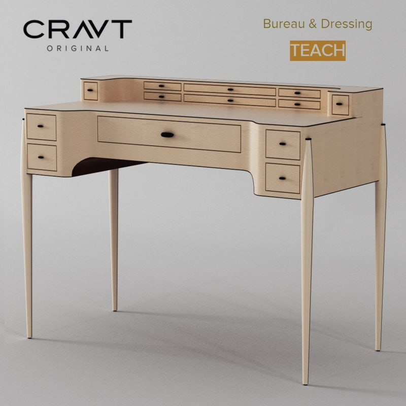 max bureau dressing desk teach