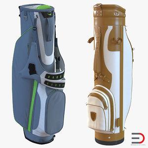golf bags 3d c4d