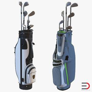 3d model golf bags 2