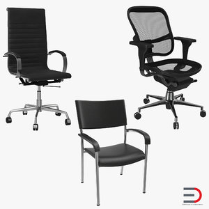 office chairs 3d model