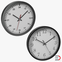 office clocks 3ds