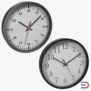 office clocks 3ds
