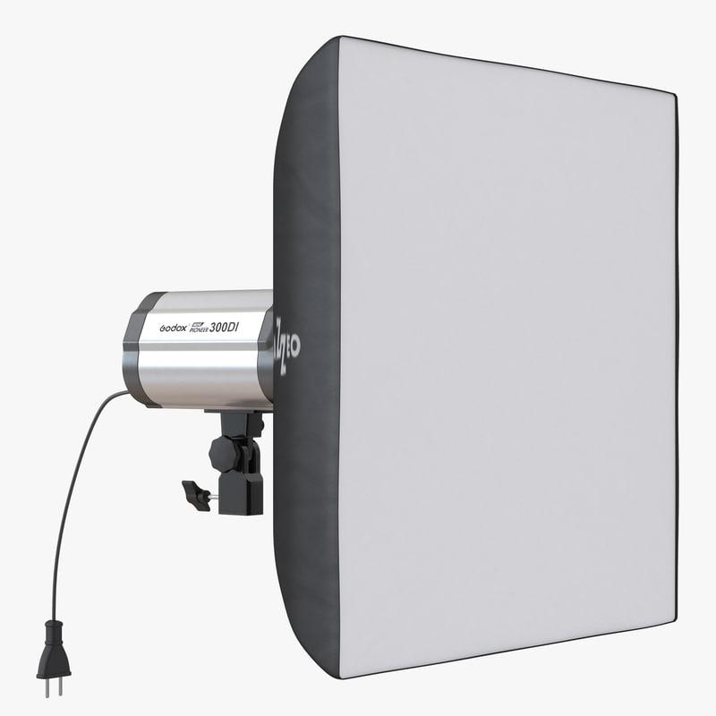 3d model studio lighting softbox 2