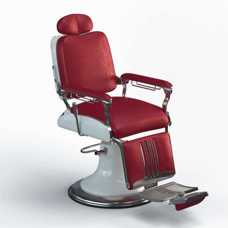 3d Model Barber Chair Legacy