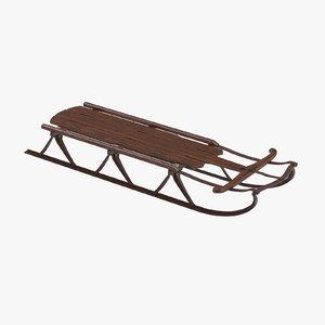 3d sled model