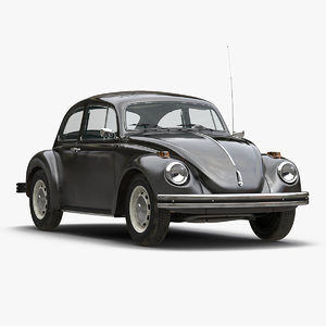 3d model volkswagen beetle 1966 black