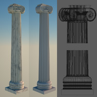 greek column 2 ionic 3d 3ds