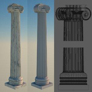 greek column 2 ionic 3d 3ds