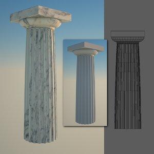 greek column 5 doric 3d 3ds