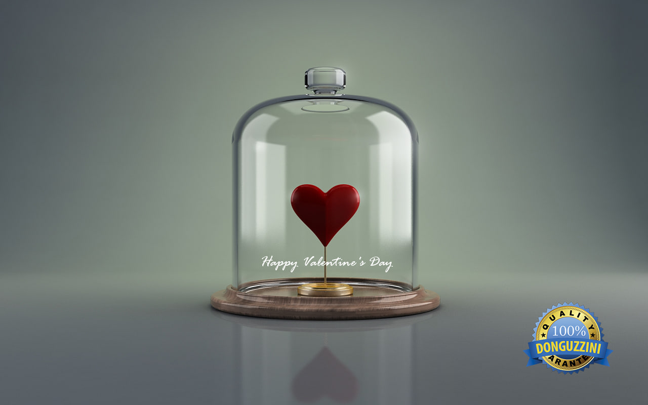 3d model of happy valentine day
