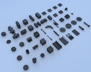 mechanical parts 3d model