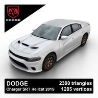 2015 dodge charger srt 3d model