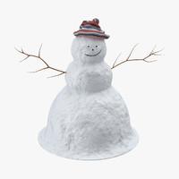 snowman 02 3d model