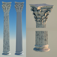 3ds greek column 8 corinthian