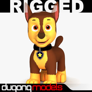 dugm08 rigged cartoon dog max
